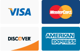 Four major credit cards accepted